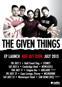 TGT Red Sky Tour Poster A3+5mm Bleed